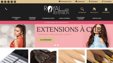Page d'accueil du site : Royal Extension