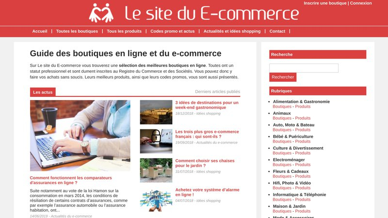 Le site du e-commerce