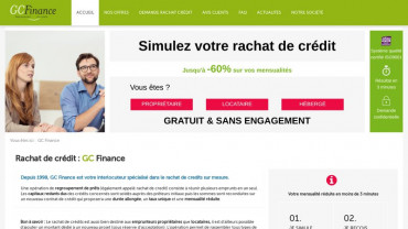 Page d'accueil du site : GC Finance