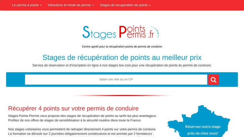 Stage points permis