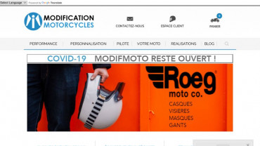 Page d'accueil du site : Modification Motorcycles