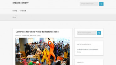 Page d'accueil du site : Harlem Shake