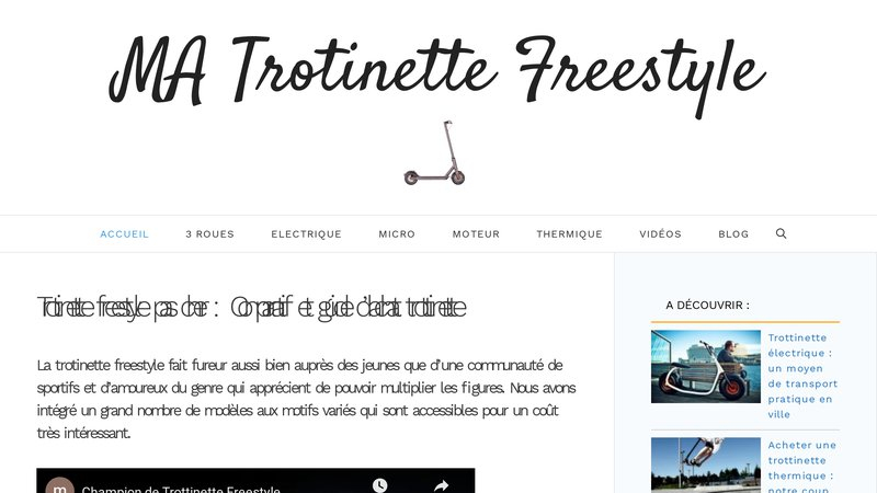 Trotinettes freestyle