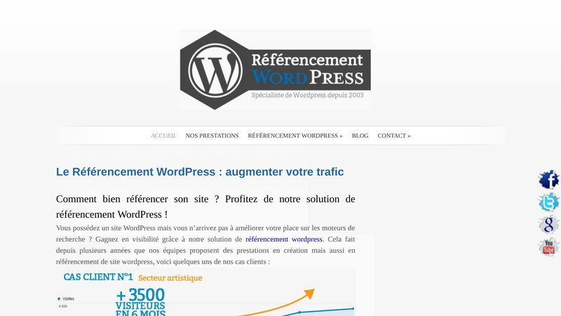 Referencement site wordpress