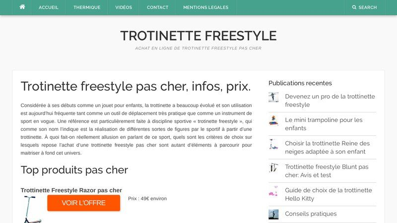 Ma trotinette freestyle