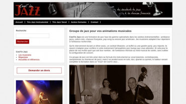 Page d'accueil du site : Cool'in Jazz