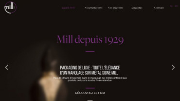 Page d'accueil du site : Mill Luxe
