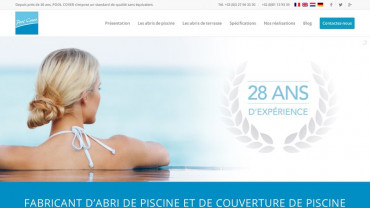 Page d'accueil du site : Pool Cover