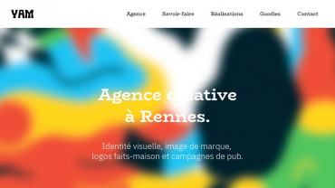 Page d'accueil du site : Agence Yam