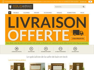 aqua edition boutique en ligne de mobilier en teck pour salle de bain. Black Bedroom Furniture Sets. Home Design Ideas