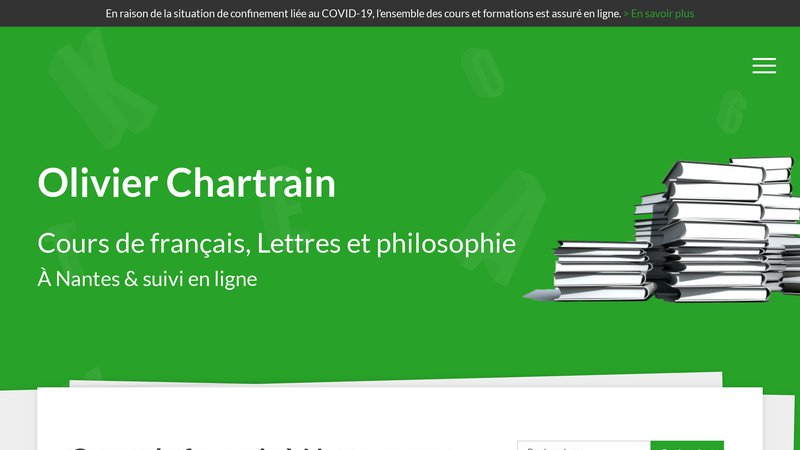 Cours Olivier Chartrain