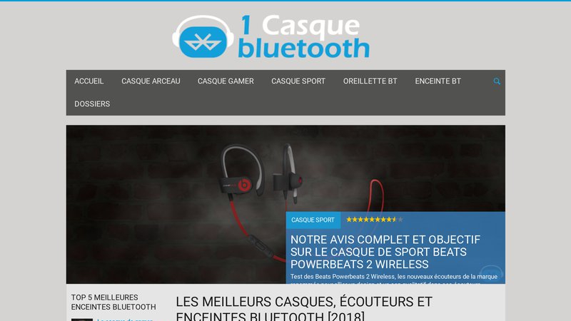 1 casque bluetooth