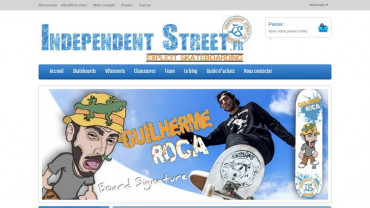 Page d'accueil du site : Independent Street