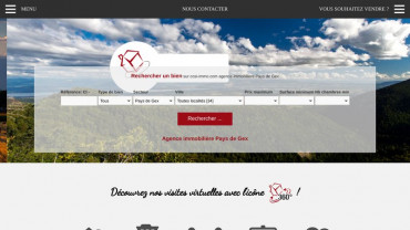 Page d'accueil du site : Cosi Immobilier