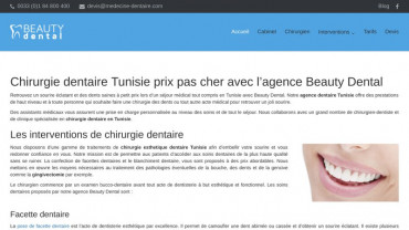 Page d'accueil du site : Beauty Dental