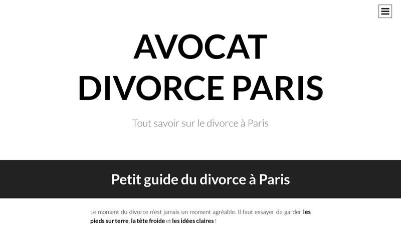 Avocat divorce à Paris