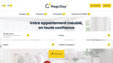 Page d'accueil du site : Magic Event