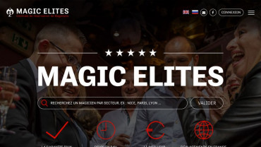 Page d'accueil du site : Magic Elites