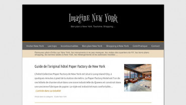Page d'accueil du site : Imagine New York