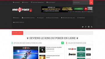 Page d'accueil du site : King of Poker