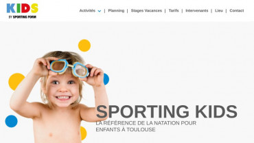 Page d'accueil du site : Sporting kids