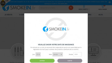 Page d'accueil du site : Smoke'In