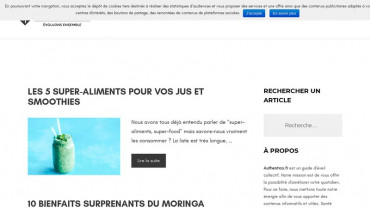 Page d'accueil du site : Authentico