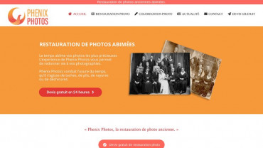 Page d'accueil du site : Phenix Photos