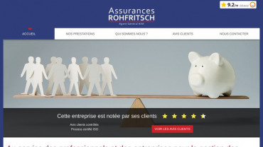 Page d'accueil du site : Axa Rohfritsch