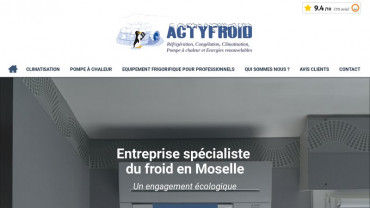 Page d'accueil du site : Actyfroid