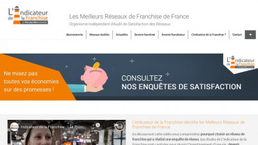 Page d'accueil du site : L'Indicateur de la Franchise