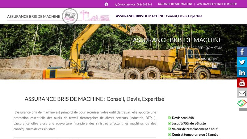Bris de Machine Assurance