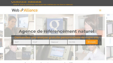 Page d'accueil du site : Web Alliance