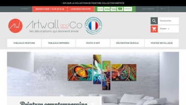 Page d'accueil du site : Artwall And Co