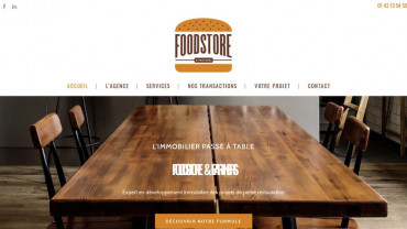 Page d'accueil du site : Foodstore and partner