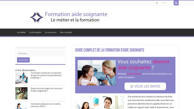 Formation aide-soignante