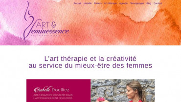 Page d'accueil du site : Art therapie